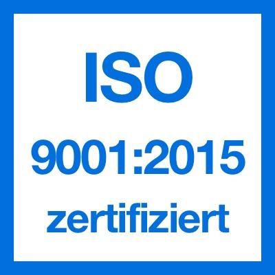 Logo ISO 9001:2015 Zertifikat